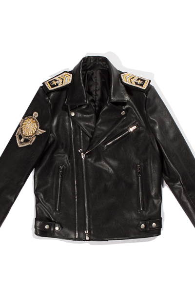 brass leather jacket  [SOLD OUT]