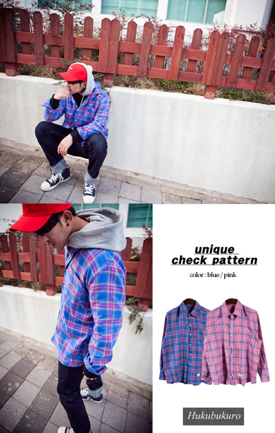 top1030. peculiar 2 color check shirt [2color][SOLD OUT]