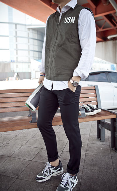 pants781. The cross slim fit slacks [3color]
