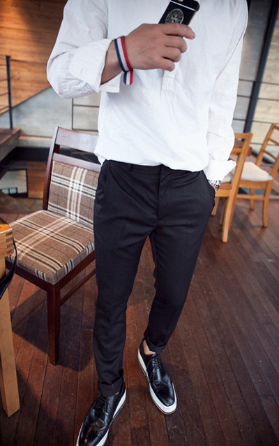 pants802. half baggy line slacks [2color][SOLD OUT]