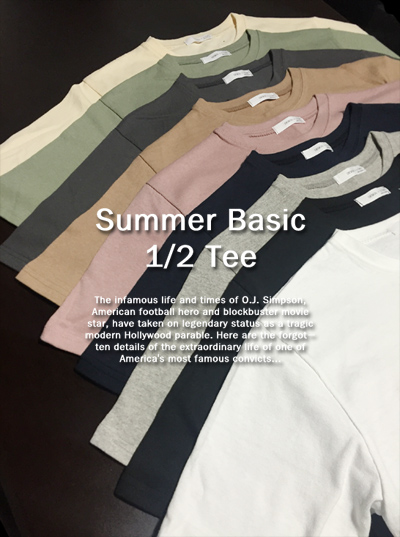 top1042. summer basic 1/2 tee [9color][SOLD OUT]