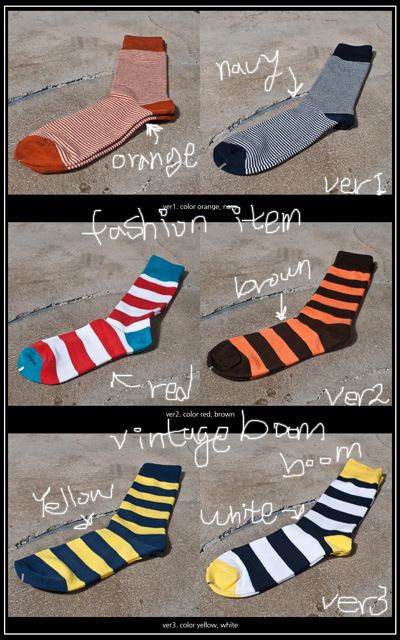 acc 032. fashion item stripe socks